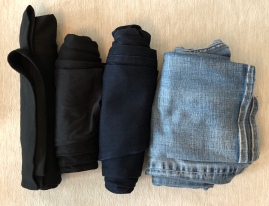 4 rolled up skirts, leggings & pants