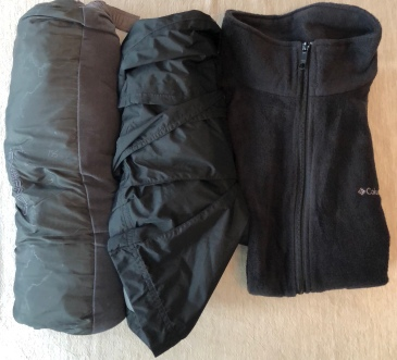 Foul weather gear for packing light